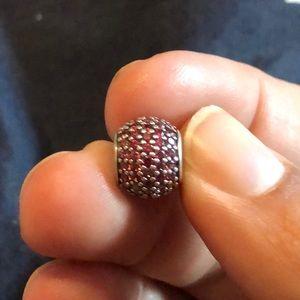 Pandora Red Pave Bead